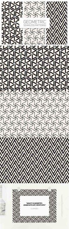 Download Free Geometric Seamless Patterns Set 5