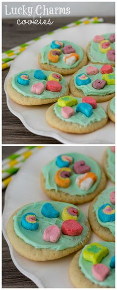 Lucky Charms Cookies   So easy a kid can make them!