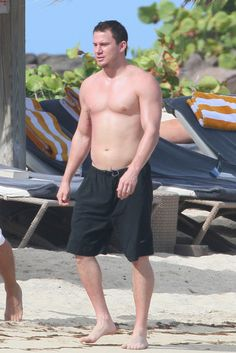 Channing Tatum Shows Off His Hot Shirtless Bod In St. Barts