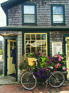 The tiny and adorable Siasconset Bookstore in Nantucket, MA.