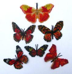 Six Red Butterflies Pattern