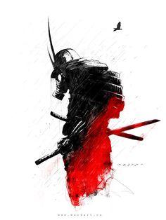 Red Samurai by MackSztaba on DeviantArt
