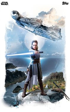 The Last Jedi Galactic Watercolors Rey & the Millennium Falcon Join the album...
