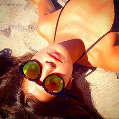 @aribarra soaking up the #LA sun in her DIME frames. Smile, it's Friday ! #DIFF #eyewear #sunny #cali #relax #weekend