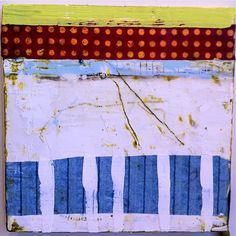 encaustic and mixed media by Amy Weil  SOLD