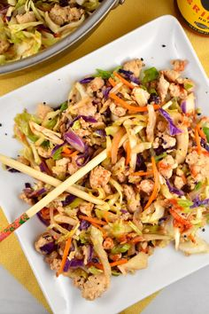 Crack Slaw (try with ground turkey and/or broccoli slaw)
