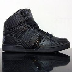 5c7bfd6b6d Osiris shoes nyc 83 black black black hi top skate trainers
