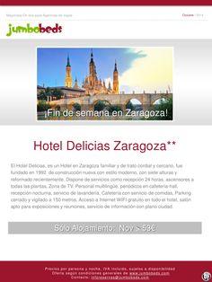 ¡Fin de semana en Zaragoza; htl Delicias Zaragoza 2* dsd 53€ pax/día en SA! ultimo minuto - http://zocotours.com/fin-de-semana-en-zaragoza-htl-delicias-zaragoza-2-dsd-53e-paxdia-en-sa-ultimo-minuto/