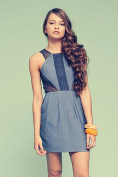 "Finders Keepers ""Off the wall"" dress in Denim"