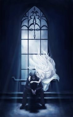Anime picture 2953x4724 with type-moon fate/zero irisviel von einzbern emiya kiritsugu juunigatsu long hair short hair ...