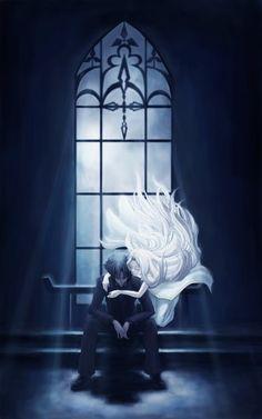 Anime picture 2953x4724 with type-moon fate/zero irisviel von einzbern emiya kiritsugu juunigatsu long hair short hair ...