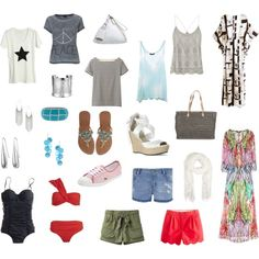 How to pack for a beach vacation. For more details, go to MadlyChic.com