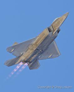 F-22 afterburner flyby  Edwards AFB  Copyright © MMIX Greg Loskorn  Milepost Imaging