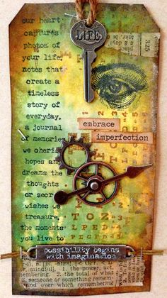 Scrapping On The Edge: Distressed Vintage Imagination Gift Tags - Tim Holtz Inspired
