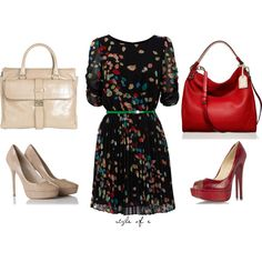 Colorful Dress, created by styleofe on Polyvore