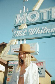Dana Trippe starring model Sierra wearing Lack of Color hats.