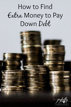 How to Find Extra Money to Pay Down Debt