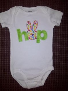 Easter onesie - can also be a t-shirt.  www.facebook.com/quilty.p