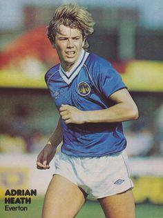 Adrian Heath of Everton in Retro Football, Football Kits, Football Soccer, Everton Fc, Football Pictures, Soccer Players, Hero, Baseball Cards, Sports