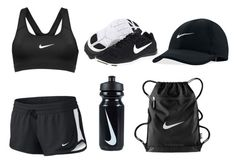 """""""Black & white work out, out fit"""" by alexiacasa on Polyvore featuring NIKE"""