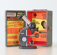 Vintage Gilbert Microscope and Case. I want!