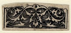 Panel of arabesque ornament, one of eleven designs for arabesque ornamental decoration, from the 'Jewellery Book'; scrolls overhanging one edge. Pen and black ink. Hans Holbein the Younger, circa 1532-1543