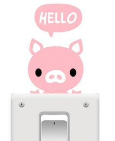 Light Switch Sticker - Pink Pig