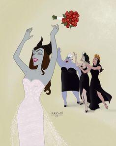 Baby Disney Characters, Disney Princess Cartoons, Disney Princess Drawings, Disney Villains, Disney Drawings, Pregnant Disney Princess, Disney Princesses, Disney Fan Art, Evil Disney