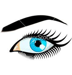 Blue women eye vector 1920187 - by arelberg on VectorStock®
