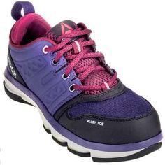 2d75fa66c23 Reebok Shoes  Women s RB360 Purple Alloy Toe ESD DMX Flex Athletic Work  Shoes