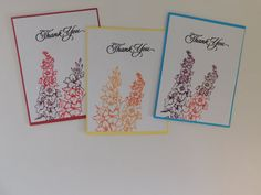 THANK YOU CARD Set: Beautiful Flowers by THISANDTHAT4YOUShop