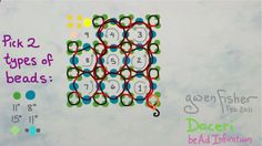 Animated How to Weave Super Right Angle Weave with Beads Illustrated wit...