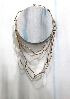 bronze modern chain link statement necklace // modular collection by megan auman