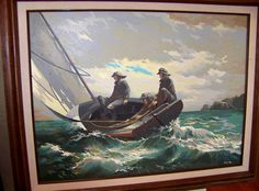 Vintage nautical Paint By Number picture signed by intimespast, $89.00