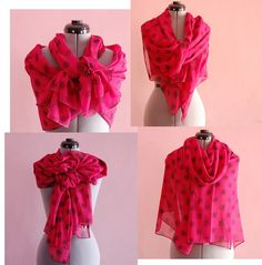 Beautiful Pink Maxi Scarf, talented Romanian designer, what's not to LOVE!!!