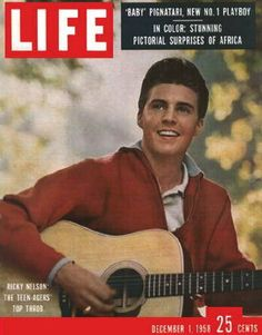 Ricky Nelson, 1958 My grandmother had this hanging in her San Diego House. She said his smile made her happy!