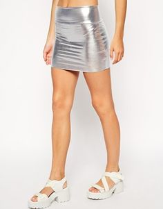 Enlarge American Apparel Metallic Late Night Mini Skirt