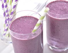 The whole family will love these fun, tasty Purple Berry 'N Broccoli Smoothies.