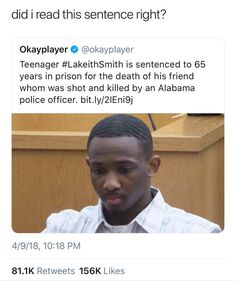 This young man is being charged by a crime made by a racist cop. WTF excuse my language but are you kidding me but they can't prosecute the cops for killing innocent people smh ‍ World Problems, Intersectional Feminism, Equal Rights, No Me Importa, Faith In Humanity, Social Issues, Social Justice, Sentences, In This World