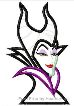 Magnificent Evil Queen Sleeping Pretty Head and Shoulders Machine Applique Embroidery Design, Multiple sizes including 4 inch Applique Embroidery Designs, Machine Embroidery Applique, Sleeping Beauty Characters, Disney Patches, Disney Designs, Frou Frou, Crafty Craft, Maleficent, Character Inspiration