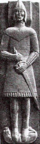 Tomb effigy of a mail clad warrior.  Reputed to be a Burke.  Glinsk, Co. Galway, Ire. (late 15th cent. (1450-1490's))