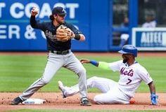 El cubano Yoenis Céspedes sufrió un tirón de tendón de la corva, Matt Harvey fue apaleado en el quinto inning en una apertura de emergencia como reemplazo de Noah Syndergaard, y la racha perdedora de los Mets de Nueva York llegó a seis partidos el jueves al caer 7-5 frente a los Bravos de Atlanta.