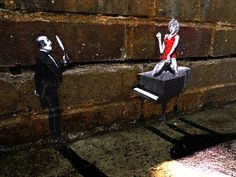 tiny_street_art_madona_on_piano_Mini Graffiti Around London