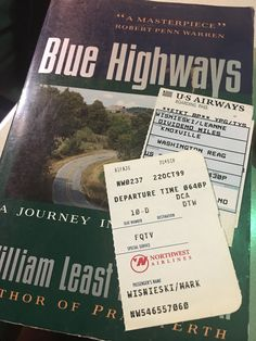 📚 Finding mementos of the journeys book take are fun bonuses. A 1991 printing of the road trip book Blue Highways (originally published 1982) took a flight from Knoxville to DC in 1999 and these were left as bookmarks.  Last week I found it in a Goodwill in Huntley, Illinois. The Journey Book, Huntley Illinois, Scene Photo, Bookmarks, Road Trip, Printing, Fun, Stamping, Road Trips