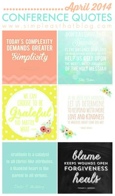 April 2014 General Conference Quotes