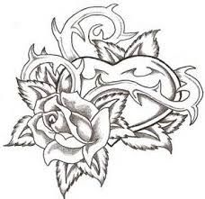 Heart and Rose by TheLob on DeviantArt Cool Drawings Of Hea.- Heart and Rose by TheLob on DeviantArt Cool Drawings Of Hearts Rose Coloring Pages, Skull Coloring Pages, Adult Coloring Book Pages, Printable Adult Coloring Pages, Coloring Pages To Print, Colouring, Tattoo Drawings, Cool Drawings, Body Art Tattoos