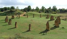 Stone Circle at Ham Hill, Somerset UK. This circle was erected in AD 2000. Photo by Gaius Cornelius