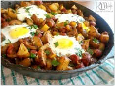Chorizo & Andouille Hash - a One Skillet Meal!