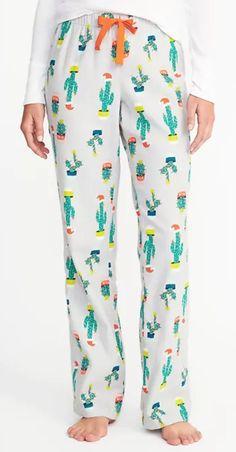 Cute cactus flannel pants