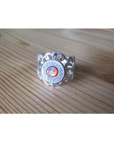 Jill's Jewels Women's 38 Special Bullet Ring With Rainbow Padparadscha Swarovski Crystals - Silver  http://www.countryoutfitter.com/products/67773-womens-38-special-bullet-ring-with-rainbow-padpara?lhs=u_p_p_n_a&lhb=MP&lhc=womens_jewelry&lhg=jill%27s%20jewels&utm_source=pinterest&utm_medium=social